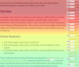 Analítica del scroll de la página