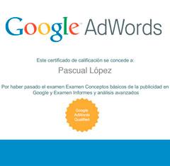 Pascual López Google Adwords IQ