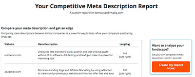 Competitive Meta Description